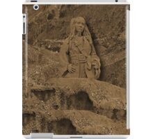 DEPLICTION OF...Jack Sparrow (Johnny Depp) from Pirates of the Caribbean sand sculpture .JOURNAL-.PILLOW--TOTEBAG--PICTURE - PRINTS- POSTERS ECT.. iPad Case/Skin