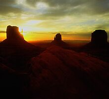 The Buttes at Monument Valley by Patrick  McMullen