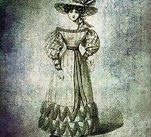 FASHIONABLE LADIES WALKING DRESS 1826 by Tammera