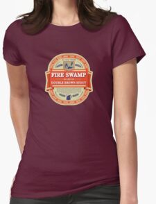 Fire Swamp Double Brown Stout Womens Fitted T-Shirt