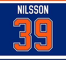 Edmonton Oilers Anders Nilsson Jersey Back Phone Case by Russ Jericho