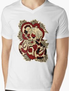 Skull & Snake Mens V-Neck T-Shirt