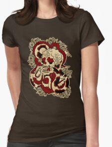 Skull & Snake Womens Fitted T-Shirt