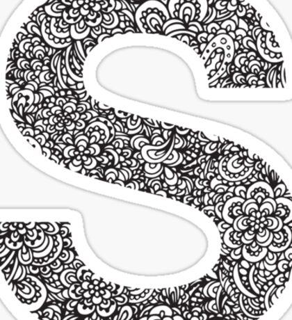 S Sticker