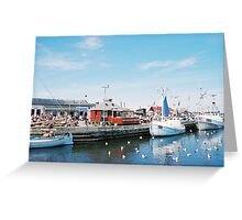 lunch at port, denmark Greeting Card