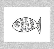 Illustrated Fish Baby Tee