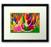 Washday Colours Framed Print