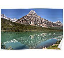 Mt. Chefren & Waterfowl Lake Poster