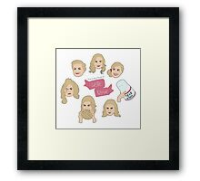 The Many Faces of Leslie Knope Framed Print