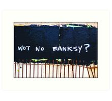 Wot no Banksy? The council have painted over a Banksy piece by mistake! Art Print