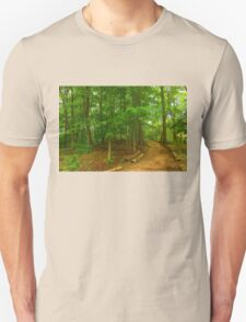 Peaceful Green Trees - Impressions of Forests T-Shirt