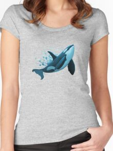 """""""The Dreamer"""" ~ Orca • Killer Whale Women's Fitted Scoop T-Shirt"""
