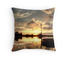 Sunset at the Docks Throw Pillow