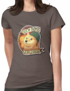 Bomb Doge Womens Fitted T-Shirt
