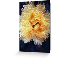 Exploding Yellow Rose Greeting Card