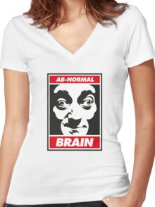 Ab-normal Brain Women's Fitted V-Neck T-Shirt