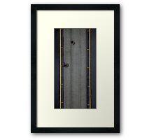 Rain on Collins st #2 Framed Print