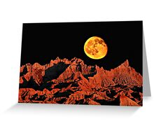 Martian peaks on Earth? Greeting Card