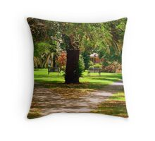 Small Triangle Park In New Orleans  Throw Pillow