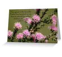 1 John 3:1 Greeting Card