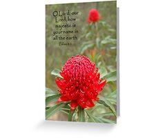 Psalm 8:1 Greeting Card