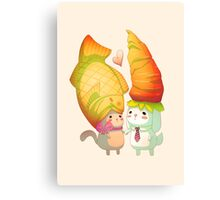 Taiyaki and carrots Canvas Print
