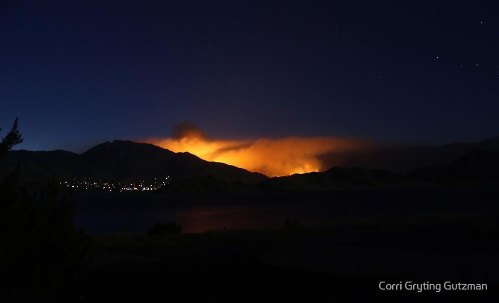 Bull Run Fire, Near River Kern, Behind Kernville 7/26/2010 by Corri Gryting Gutzman