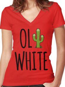 Oli White - Cactus! Women's Fitted V-Neck T-Shirt