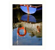Boats Reflection Art Print