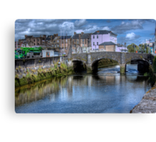 The Canal and a Bridge - Cork, Ireland Canvas Print