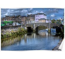 The Canal and a Bridge - Cork, Ireland Poster