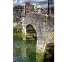 The Bridge - over one of the Canals in Cork, Ireland Photographic Print