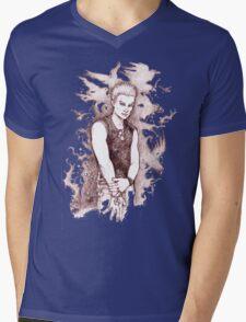 Punk Spike Mens V-Neck T-Shirt