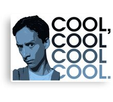 Abed - Cool, cool cool cool. Canvas Print