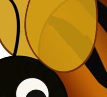 Bee In Black Sticker