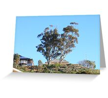 When skies are blue in Mannum they are really BLUE!! Greeting Card