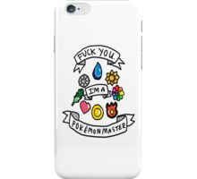 Pokemon Master! iPhone Case/Skin
