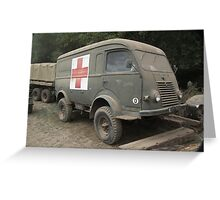 Renault Ambulance Greeting Card