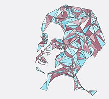Beautiful Woman Abstract Portrait by AnnieAveni