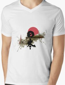 Nippon - Modern and Traditional Japan Montage Mens V-Neck T-Shirt
