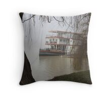 Marion in the fog... Throw Pillow