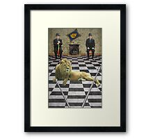 All dressed up with no place to go and there is nothing on the tele Framed Print
