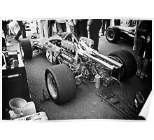 Brabham F1 car in pits Poster
