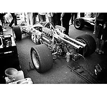 Brabham F1 car in pits Photographic Print
