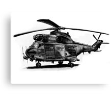 Puma Helicopter Canvas Print