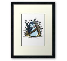War Penguin Framed Print