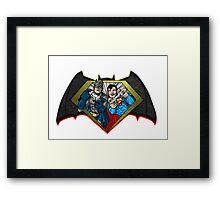 Superman vs. Batman Pawnage Framed Print