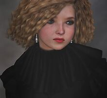 Blonde with black ruffle by Roberta Angiolani