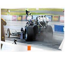 Nostalgic Top Fuel Dragster Poster