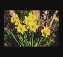 Sunny Daffodil Bouquet – Impressions Of Spring Kids Clothes